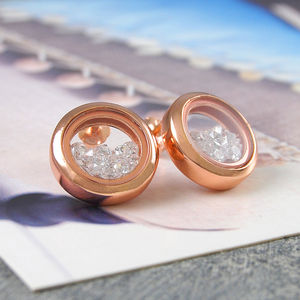 Cubic Zirconia Diamond Gold And Silver Studs