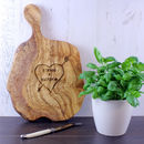 Personalised Tree Carving Chopping Board