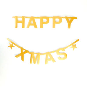 Make Your Own Phrase Garland 127 Pcs Gold - garlands & bunting