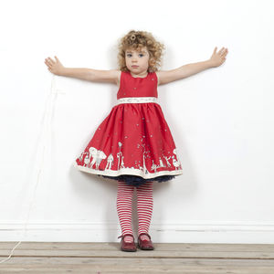 Martha Aunt Eva Dress In Red