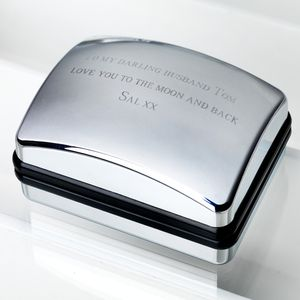 Personalised Cufflink Box - storage