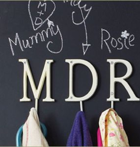 Vintage Style Letter Hook - children's room