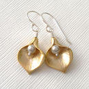 Calla Lily Earrings Mixed Metal