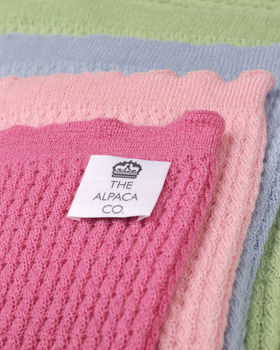 The Alpaca Co. Cable Knit Blankets