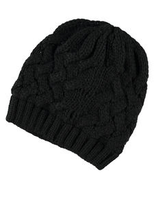 Mepha Black Knit Hat - hats, scarves & gloves