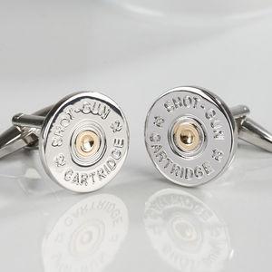 Two Tone Shotgun Cufflinks - cufflinks