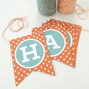 Personalised Spotty Celebration Bunting - home