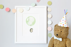 Personalised Pastel Green Balloon Print