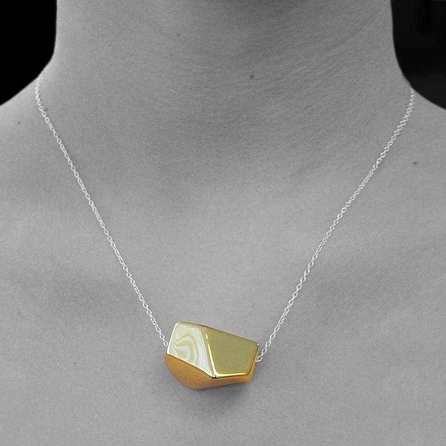 fool gold brass petite s necklace product electrum asymmetrical mini delicate img short