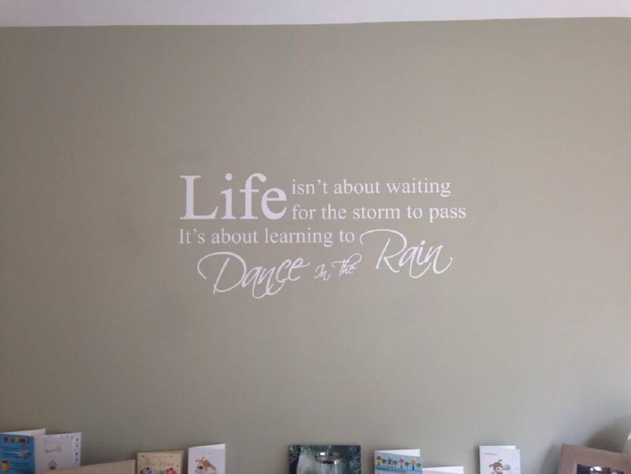 Dance In The Rain Wall Quote Stickers Part 57
