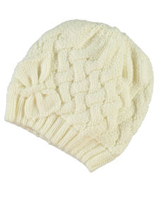 Mepha Off White Knit Hat - hats, scarves & gloves