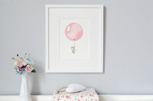 Personalised Rose Pink Balloon Print