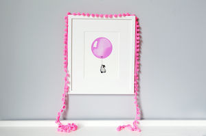 Personalised Fuchsia Balloon Print
