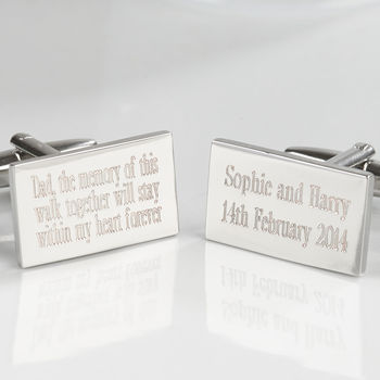 Personalised Your Message Silver Plated Cufflinks
