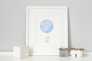 Personalised Powder Blue Balloon Print