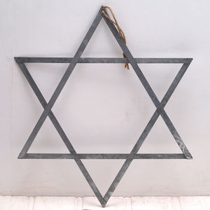 Hanging Metal Star - christmas home accessories