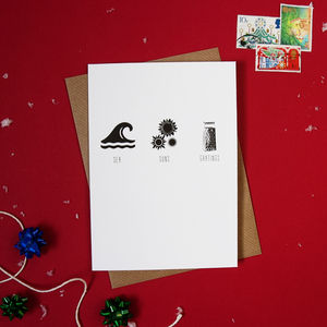 Pack Of Four 'Sea Suns Gratings' Christmas Cards