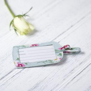 Floral Luggage Tag - travel & luggage
