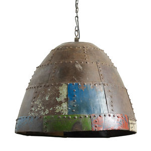 Large Rusty Hanging Lamp - ceiling lights
