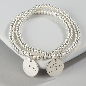 Silver Zodiac Constellation Bracelet - 40th birthday gifts