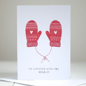 'I'm Smitten' Personalised Christmas Card