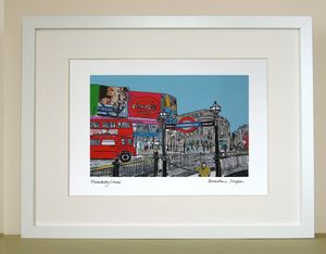 Piccadilly Circus Limited Edition Print - maps & locations