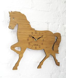 Personalised Children's Horse Clock - children's room