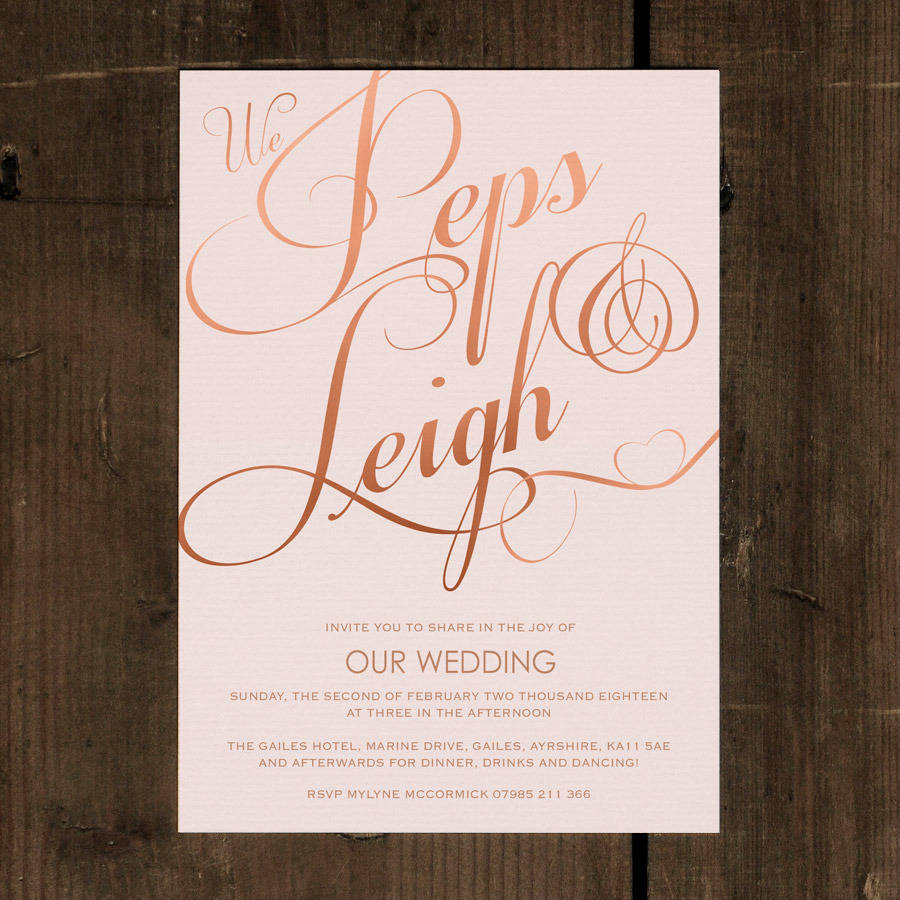 classic script wedding invitation set by feel good wedding ...