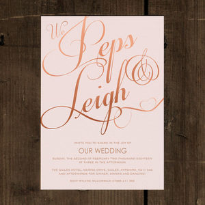 Classic Script Wedding Invitation - wedding stationery