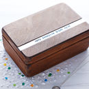 Personalised Wooden Anniversary Keepsake Box