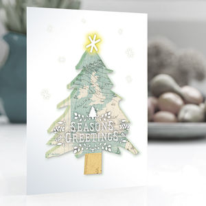 Christmas Cards — Weather Map Christmas Tree Pack Of 15