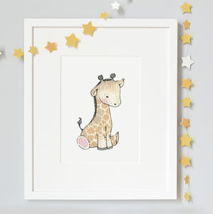 Newborn Baby Giraffe Print - posters & prints for children
