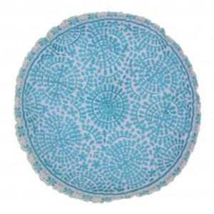 Turquoise Souk Embroidered Cushion - cushions