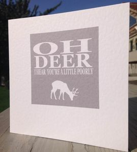 Get Well Soon Card Oh Deer…