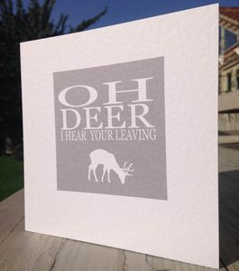 Leaving Card Oh Deer…