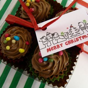 Cupcake Chocolates In A Gift Box - home