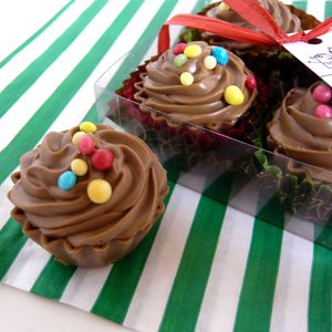 Cupcake Chocolates In A Gift Box - novelty chocolates
