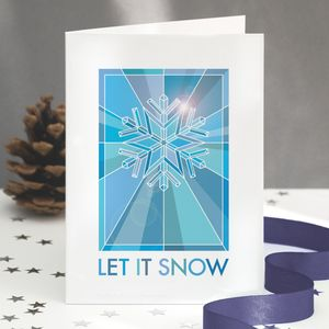 Snowflake Christmas Card Single Or Pack - cards & wrap
