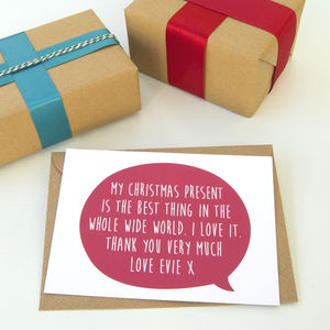 12 Personalised Christmas Thank You Cards - thank you cards