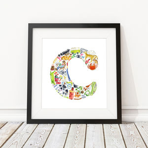 Letter C Print - nursery pictures & prints
