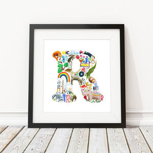 Letter R Print - children's room