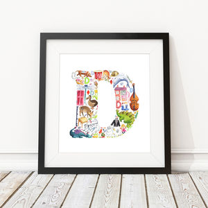 Letter D Print - children's room