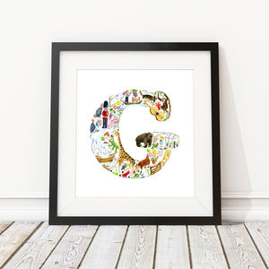 Letter G Print - children's room
