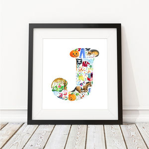 Letter J Print - nursery pictures & prints