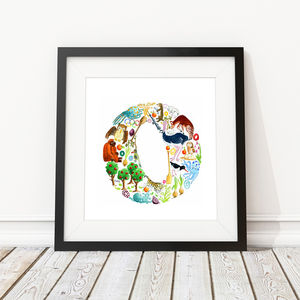 Letter O Print - children's room