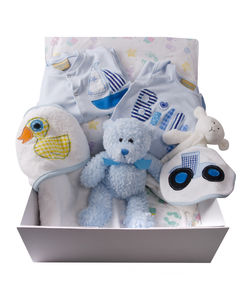 Personalised/Mixed Baby Boy Gift Hamper