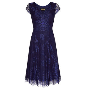 Special Occasion Lace Dress In Celeste Blue