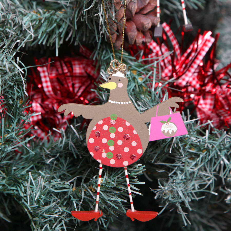 Red Berry Christmas Tree Decorations : Christmas robin tree decorations by red berry apple