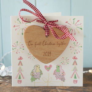 A Couple's First Christmas Together Card And Decoration