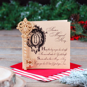 Magic Key Children's Christmas Card - cards